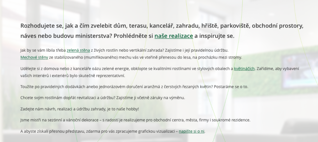 Flower Company – texty na web