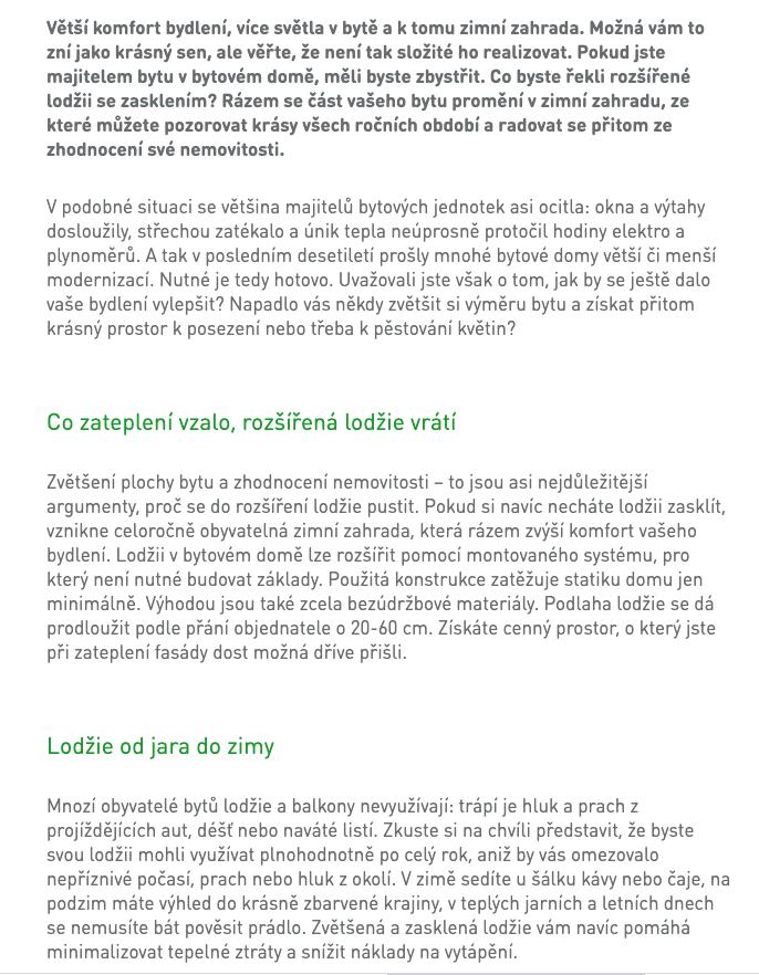 Dům plný úspor – články na web a texty na landing page